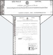 Certidão de Casamento Brasileira : £28